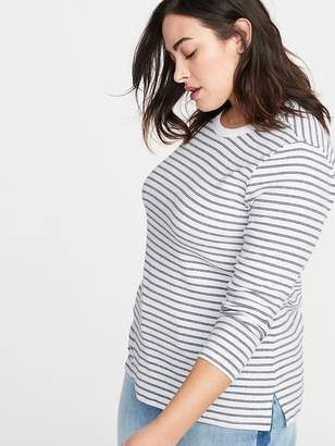 Old Navy Slim-Fit Plus-Size Brushed-Knit Striped Top