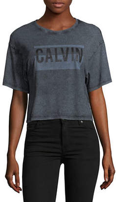 Calvin Klein Jeans Graphic Cropped Tee