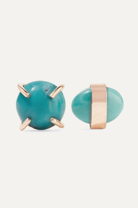 Melissa Joy Manning 14-karat Gold Turquoise Earrings