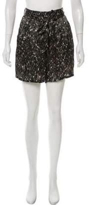 Lanvin High-Rise Printed Mini Shorts