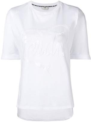Fendi logo patch T-shirt