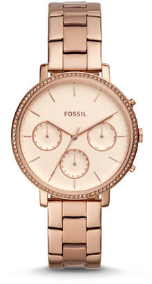 Fossil Sylvia Multifunction Rose Gold-Tone Stainless Steel Watch