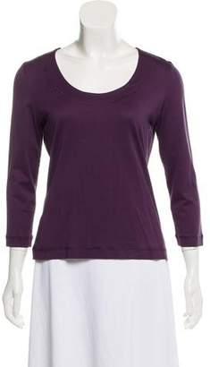 Akris Punto Scoop Neck Long Sleeve T-Shirt