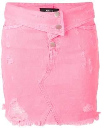 Amiri distressed mini skirt