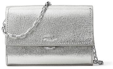 MICHAEL Michael Kors Michael Kors Yasmeen Small Metallic Leather Clutch