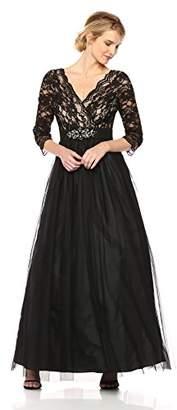 Jessica Howard Women's Lace Bodice Ballgown