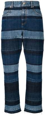 Sonia Rykiel washed striped boyfriend jeans