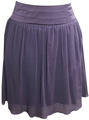 Zadig & Voltaire Purple Cotton Skirt for Women
