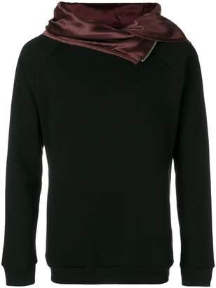 Unconditional zip funnel neck hoodie