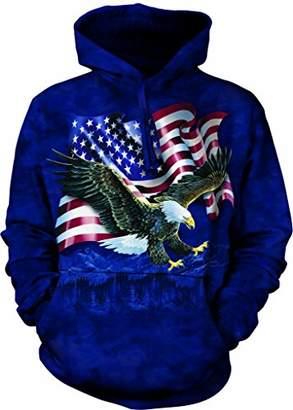 The Mountain Eagle Talon Flag Adult Hoodie