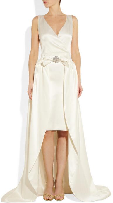 Temperley London Avalia woven satin gown with detachable skirt