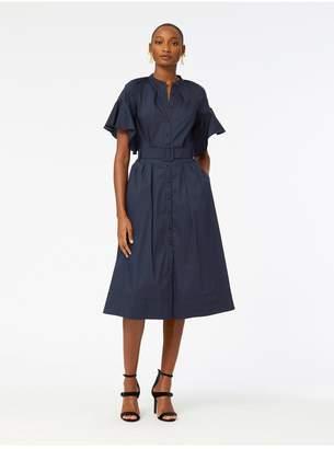 Oscar de la Renta Stretch-Cotton Poplin Dress
