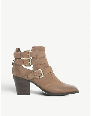 Steve Madden Yanky buckled leather ankle boots