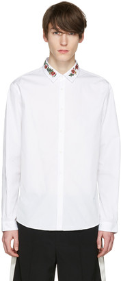 Gucci White Floral Collar Shirt $630 thestylecure.com