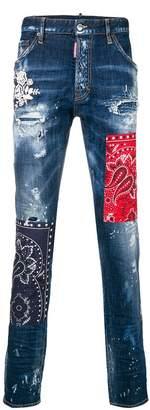 DSQUARED2 cool guy bandana jeans