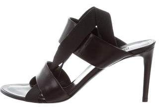 Balenciaga Leather Cross Strap Sandals
