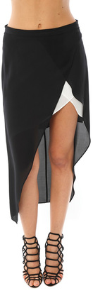 Mason By Michelle Mason Skirt With Contrast Slip $391 thestylecure.com