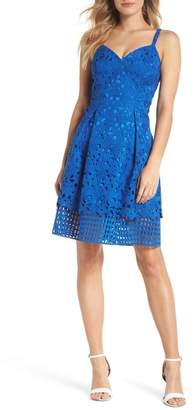 Vince Camuto Lace Fit & Flare Dress