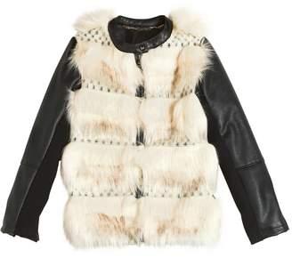 Faux Fur & Faux Leather Jacket