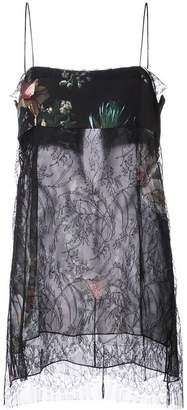 ADAM by Adam Lippes floral print and lace detail sheer camisole