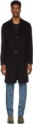 Givenchy Black 4G Buttons Long Coat