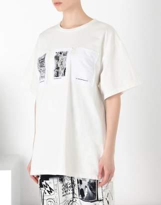 MM6 MAISON MARGIELA (エムエム6 メゾン マルジェラ) - MM6 MAISON MARGIELA トライプ パッチ tシャツ