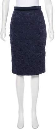 Louis Vuitton Plissé Jacquard Skirt