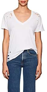 NSF Women's Cielo Distressed Cotton T-Shirt - White