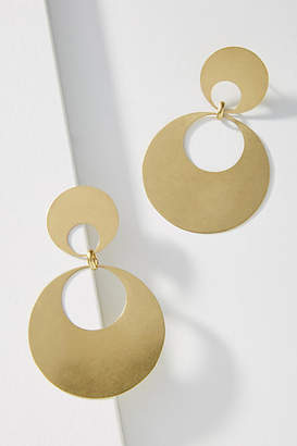Anthropologie Double Hoop Drop Earrings