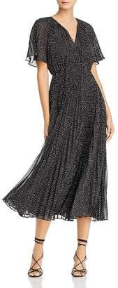 Jill Stuart Metallic Dot Chiffon Dress