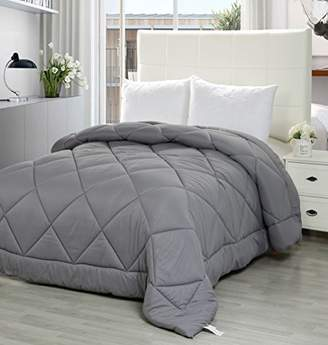Utopia Bedding Queen Comforter Duvet Insert Grey - Quilted Comforter with Corner Tabs - Plush Siliconized Fiberfill