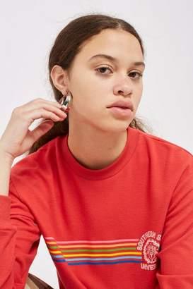 Topshop Petite 'Southern State' Rainbow Sweatshirt