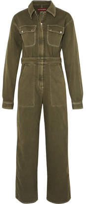ALEXACHUNG Denim Jumpsuit - Army green
