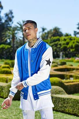 boohoo French Montana Varsity Star Badge Bomber