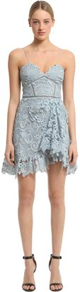 Paisley Lace Ruffled Mini Dress $435 thestylecure.com