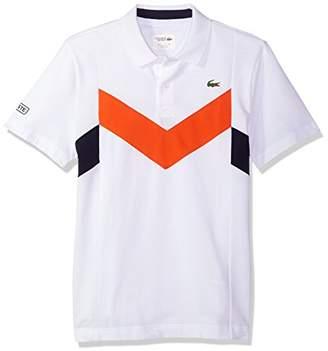 Lacoste Men's Tennis Short Sleeve Super Light Chevron Color Block Polo