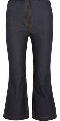 McQ Mid-Rise Cropped Flared Jeans