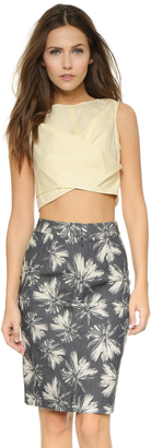 Marc by Marc Jacobs Summer Cotton Crop Top $248 thestylecure.com