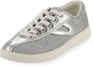 Tretorn Nylite Plus Metallic Mesh Low-Top Sneakers