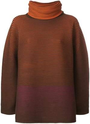 Issey Miyake turtleneck oversized jumper
