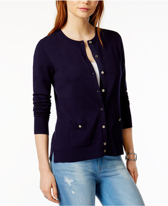 Tommy Hilfiger Crew-Neck Cardigan, Only at Macy's $69.50 thestylecure.com