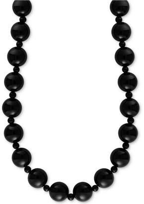 "Effy Onyx (4 & 10mm) Bead 20"" Statement Necklace"