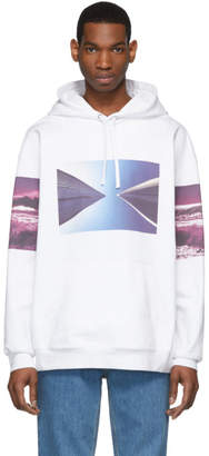 Calvin Klein Jeans Est. 1978 White Environmental Communications Graphic Hoodie