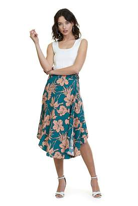 Country Road Print Wrap Skirt