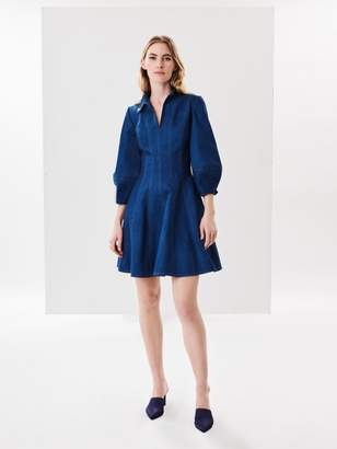 Oscar de la Renta Chambray Dress