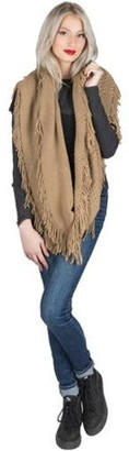 AERUSI Women's Soft Woven Infinity Wrap Shawl Scarf with Frills [Adult Size]