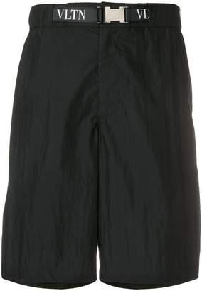 Valentino printed logo bermuda shorts