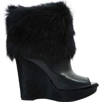 Prada Leather open toe boots