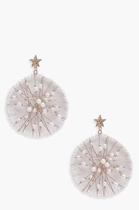 boohoo Morgan Star Stud Pearl Earrings