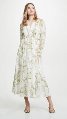Giambattista Valli Floral V Neck Dress
